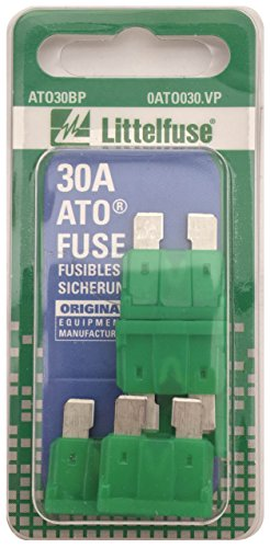 Littelfuse 0ATO030.VP ATO 32 Volt 30 Amp Carded Fuse, (Pack of 5)