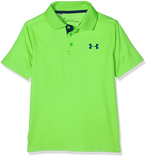 Under Armour Boys' Performance Polo, Poison (327)/Academy, Youth Small by Under Armour (Image #1)