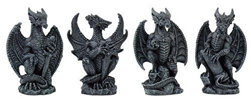 Small Collector Faux Stone Warrior Dragon Gargoyles