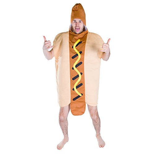 Bodysocks Adult Hot Dog Fancy Dress