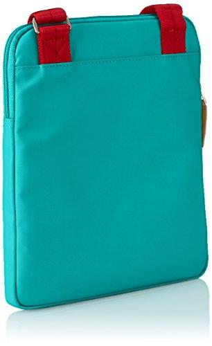 Piquadro Borsello, Collezione Altair, in Pelle e Tessuto, 26 cm, Verde