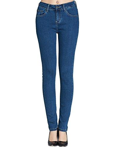 Camii Mia Women's Stretch Slim Fit Skinny Jeans (26, Blue (105-1))