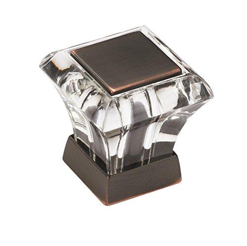 Amerock Crystal (Amerock BP29460CORB Abernathy 1-1/16 in (27 mm) Length Clear/Oil-Rubbed Bronze Cabinet Knob)