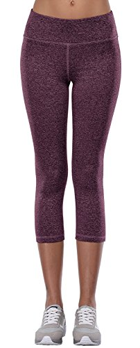 Aenlley Women's Activewear Yoga Capris High Rise Workout Gym Spanx Tights leggings Color CHT Size XS (Pants Lounge Rollover)