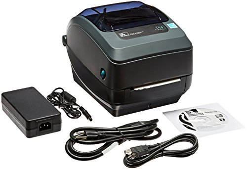 Zebra - GX430t Thermal Transfer Desktop Printer for Labels, Receipts, Barcodes, Tags, and Wrist Bands - Print Width of 4 in - USB, Serial, and Parallel Port Connectivity