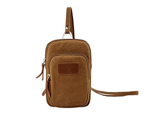 LAAT Sac de téléphone portable version coréenne sac de voyage pour hommes nouveau sac à dos sac à dos sport Bale gym sac à main de loisirs toile sac à bandoulière sacs Kaki