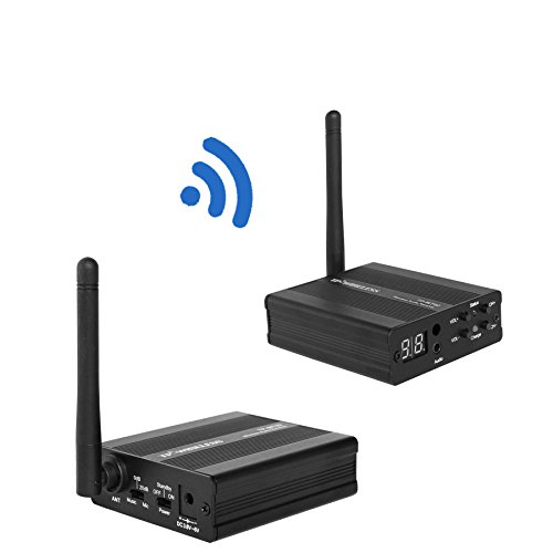 TP-WIRELESS 2.4GHz Digital Wireless HDCD Audio Adapter Music Sound Transmitter and Receiver (1 Transmitter and 1 Receiver) by TP-WIRELESS