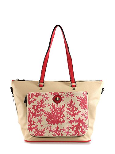 Shopping Bag L Linea Reverso R004 Beige Beige