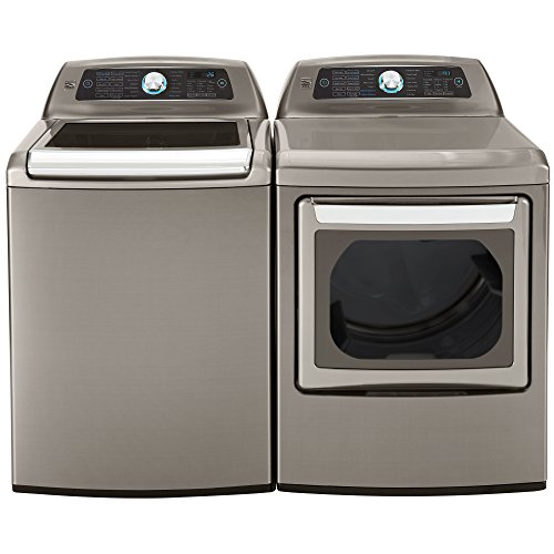 Kenmore Elite Top-Load Laundry 5.2 cu. ft. Washer & Electric Dryer Bundle in Metallic Silver - Includes delivery and hookup