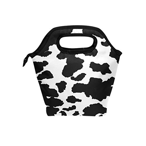 BETTKEN Lunch Bag Animal Cow Print Insulated Reusable Lunch Box Portable Lunch Tote Bag Meal Bag Ice Pack for Boys Girls Adult Women Men