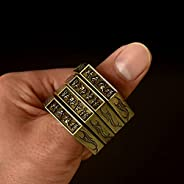 Hexagon Retro Ring, Outdoor Climbing for Women and Men Safe 4-Finger Ring, Self-Defense Ring Emergency Rescue