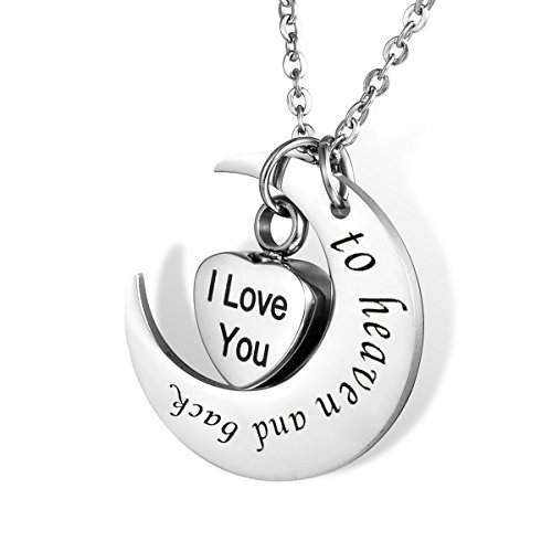 HOUSWEETY Stainless Steel Pendant Necklace