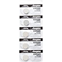 5 x Energizer 1220 Watch Batteries, 3V Lithium CR1220