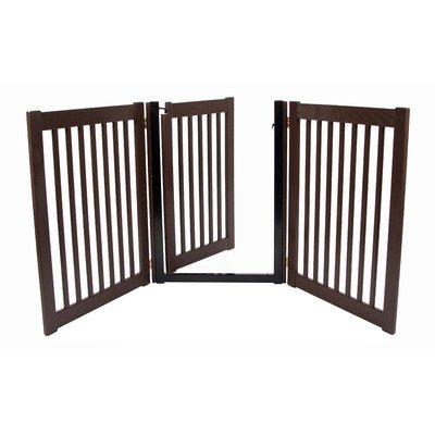 Dynamic Accents Walk Through 3 Panel Free Standing Pet Gate Mahogany