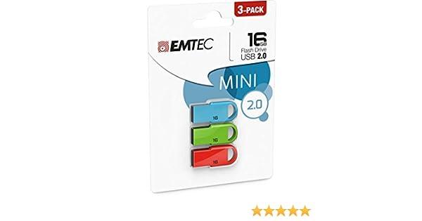Emtec USB 2.0 D250 Mini Pack 3 16GB: Amazon.es: Informática