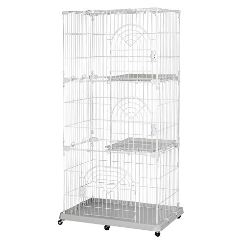 Topeakmart 3-Tier Large Pet Cat Kitten Cage