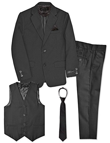 Boys Formal Dresswear Suit Set #JL48 (18, Charcoal) ()