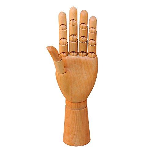 Wooden Left Hand Manikin Male -- Sectioned Full Hand Artist Mannequin...