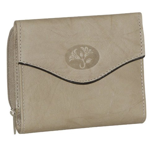 UPC 043345914182, Buxton Heiress Leather Zip Purse (Taupe)