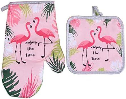 Sohapy Potholders Resistant Decorative Flamingos