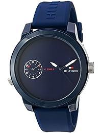 Men's 'Denim' Quartz Plastic and Rubber Casual Watch,...