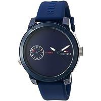 Tommy Hilfiger 'Denim' reloj informal de cuarzo con correa de plástico y goma color: azul (Modelo: 1791325),