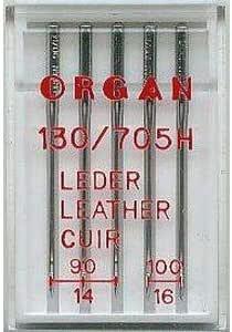 Órgano Agujas para Máquinas de Coser, de piel tamaño 90: Amazon.es ...