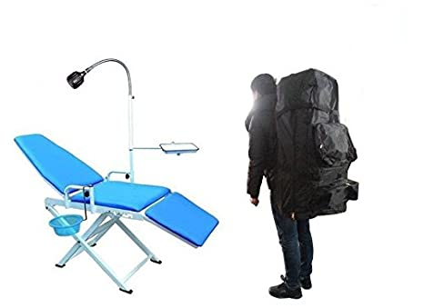 Miraculous Greeloy New Updated Folding Portable Dental Chair Gu P109A 2 With Black Backpack Pabps2019 Chair Design Images Pabps2019Com