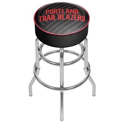 Trademark Gameroom NBA1000-PTB2 NBA Padded Swivel bar Stool - Fade - Portland Trailblazer by Trademark Global