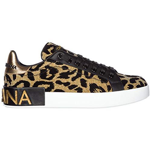 Dolce & Gabbana Women Portofino Sneakers oro/Nero 9 US