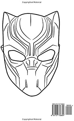 Coloring pages Black Panther. Superhero Marvel Free | 400x246