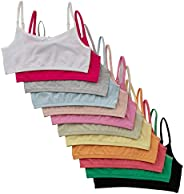 Alyce Intimates Girls Cotton Cropped Cami Training Bra, Pack of 12