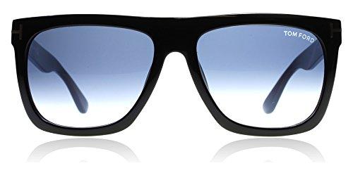 Tom Ford FT0513 01W Shiny Black Morgan Square Sunglasses Lens Category 2 Size - Morgans Lens