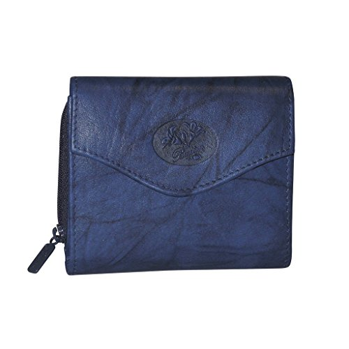 Buxton Womens Leather Heiress French Purse Wallet (Navy)