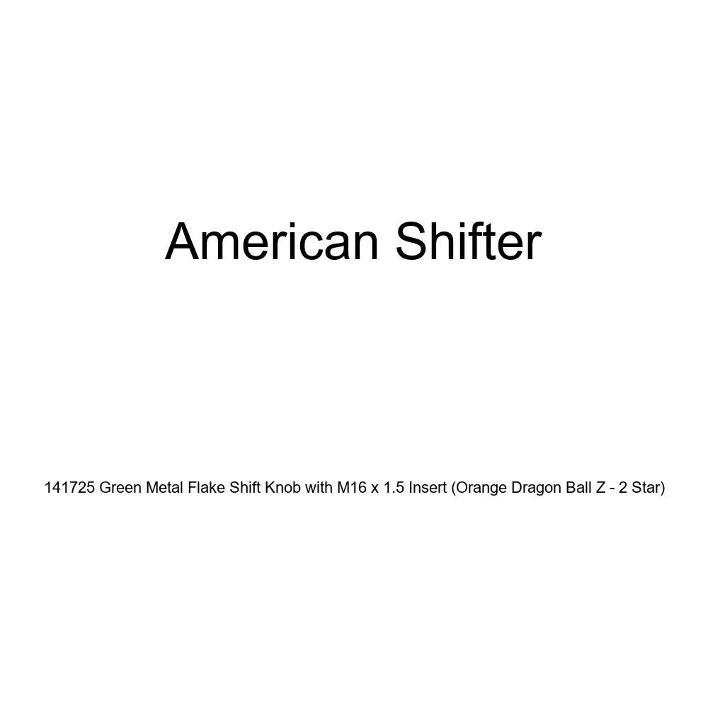 American Shifter 141725 Green Metal Flake Shift Knob with M16 x 1.5 Insert Orange Dragon Ball Z - 2 Star