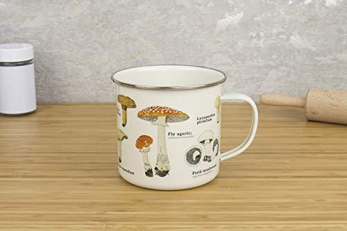- Gift Republic GR270058 Mushroom Enamel Mug, Multi