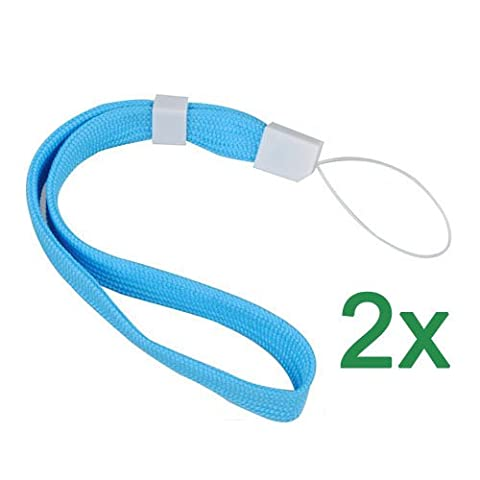 Sonline 2X Blue Lanyard Hand Wrist Strap With Slide For Camera Phone DS PSP MP3 MP4 (Wrist Strap Ds)
