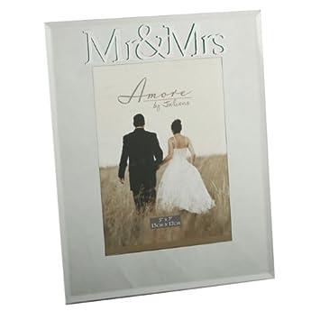 3D Mr Mrs Mirror Wedding Photo Frame 7quot
