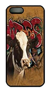 iPhone 5S CaseHip Hop Harriet Cow Custom PC Hard Case Cover for iPhone 5/5S Black