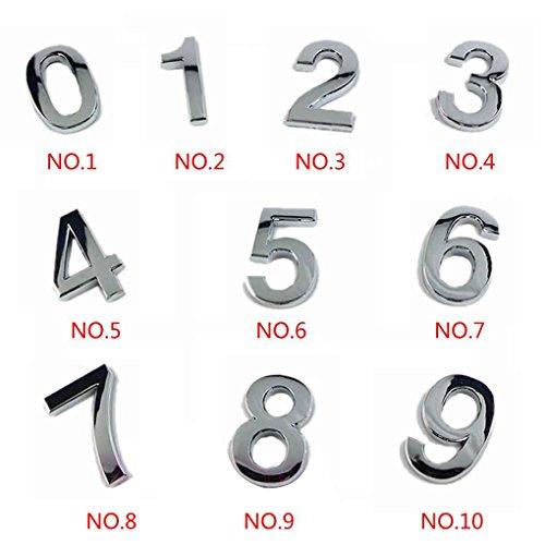 Numeral Numéros Porte 9 Signe Autocollant LUFA moderne Numérique Plaque Lettre Numéros de maison Plaque qzBqCHw6x