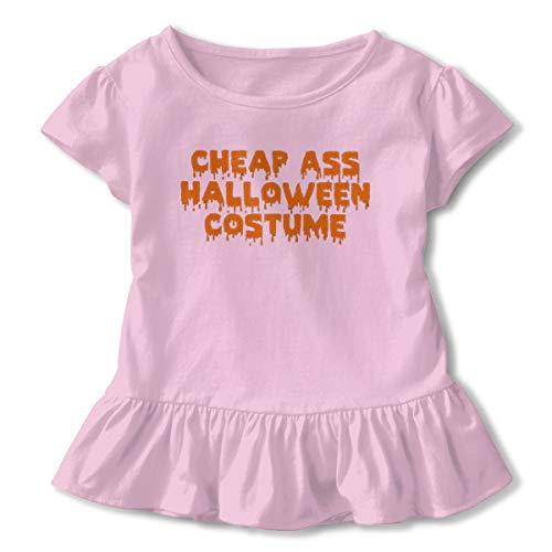 NOOFORMER Girls Ass Halloween Costume Child Funny T-Shirt Short Sleeve Pink ()