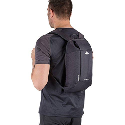 QUECHUA Kids Outdoor Backpack Daypack Mini Unoriginal Bookbags 10L (Black)