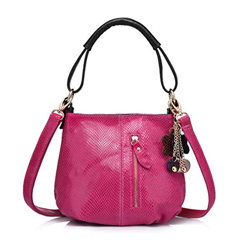 ANANXILA Small Handbag For Ladies Shoulder Crossbody Bag Messenger Bag With Tassels Rose Red by ANANXILA