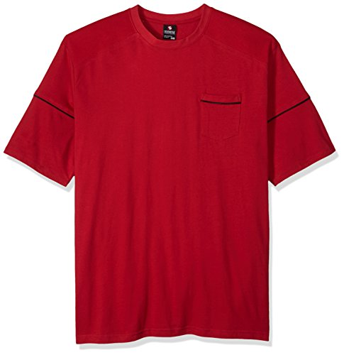 Nice Southpole Men's Big and Tall Short Sleeve Solid Raglan Tee With Pocket and Biker Details for sale