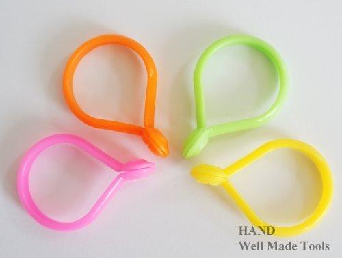 30 ganci/anelli di plastica multiuso per tende, colore giallo, 32mm Well Made Tools