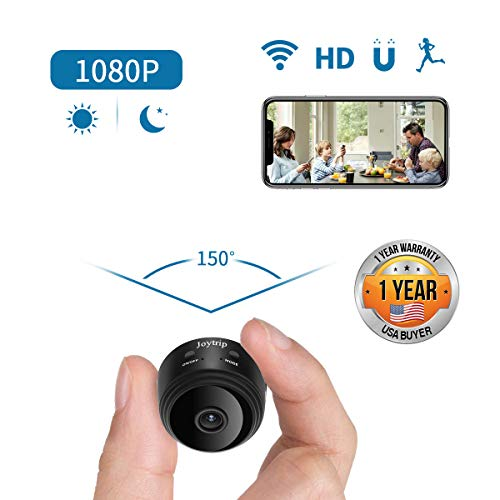 [2019 Upgraded] Mini Spy Camera WiFi HD Hidden Camera Wireless 1080P Portable Small Nanny Cams and Hidden Cop Cameras with Cellphone App/Night Vision/Motion Activated for Home/Baby/Pet