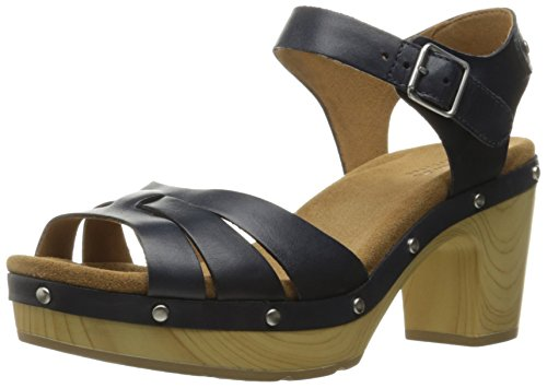 Trail marino Clarks mujer Ledella navy de Sandal leather Heeled la Azul RxxgT5q8