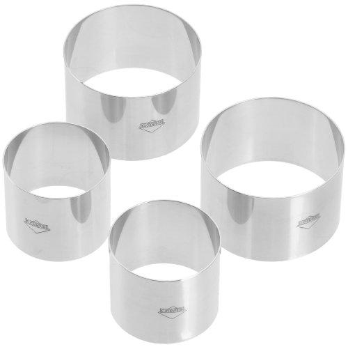 Kuchenprofi K0905002804 Prep/Plating/Forming Rings, Set of 4, 2.5