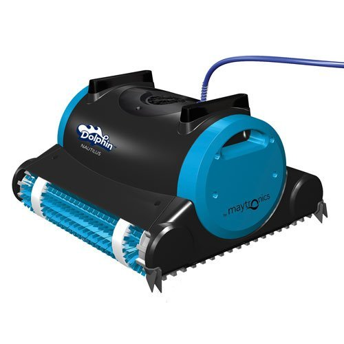 Dolphin Nautilus Automatic Robotic Pool Cleaner with Dual Filter Cartridges, Two Scrubbing Brushes and Tangle-Free...