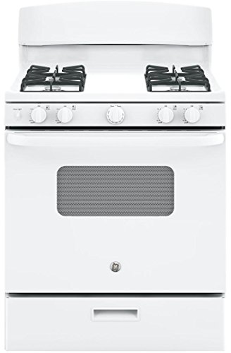 GE JGBS10DEKWW 30″ White Gas Sealed Burner Range